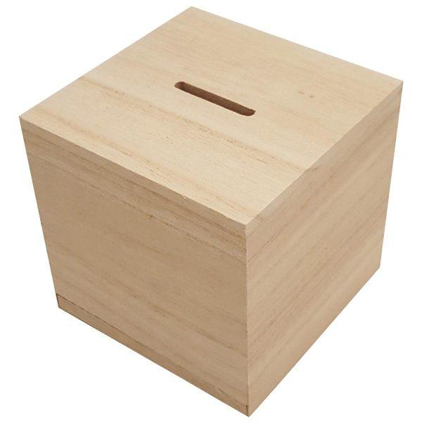 houten spaarpot graveren - ZosTof op maat bedrukking