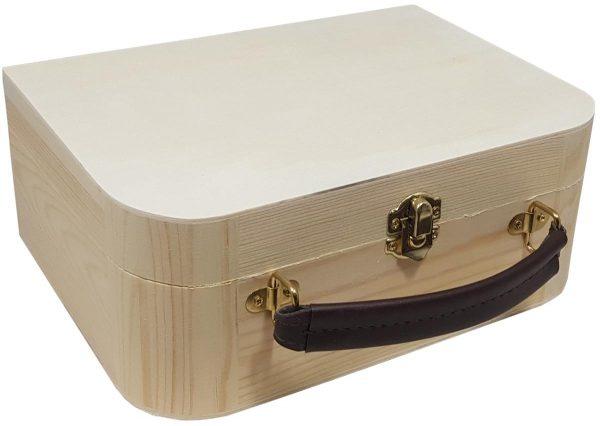 Houten koffertje met gravure - ZosTof op maat bedrukking