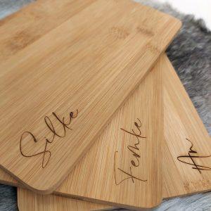 bamboe broodplakje graveren - ZosTof op maat bedrukking