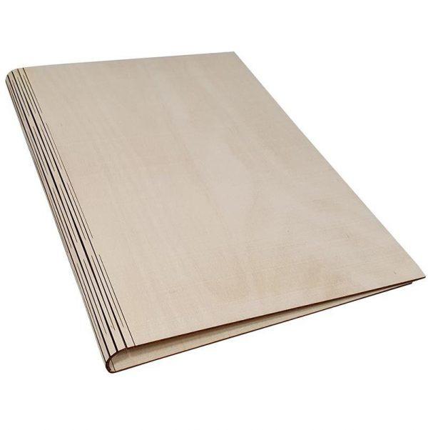 houten bewaarmap A4 - ZosTof op maat bedrukking