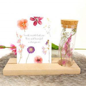 gedenkplank kaarthouder droogbloemen